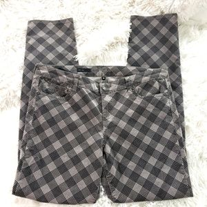 Kut from the kloth gray black plaid courdory 16